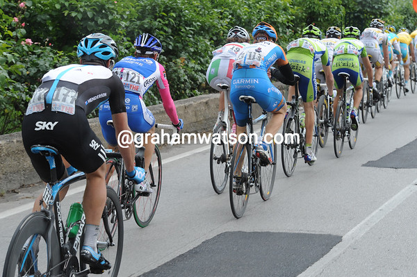 Henderson, Cunego, Farrar, and Pozatto are enjoying the hospitality of Astana - which one of them will win today..?