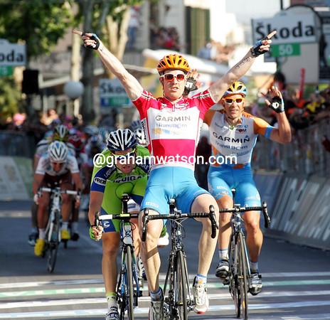 Tyler Farar wins stage ten - it is his second Giro stage-win so far...