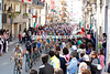 Massive crowds greet the Giro on its way to the coast near Bari...