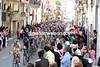 Massive crowds greet the Giro on its way to the coast near Bari...