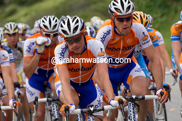 while Rabobank seem to be fueling in preparation for Bonny Doon.
