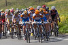 Robbie Hunter and others from Garmin move to the front, whipping the pace for Zabriskie.