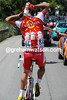 It's watering time iatthe zoo - Cusin of Cofidis tries the classic pose as he loads up with bottles...
