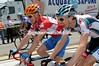 Is Charly Wegelius telling Tyler Farrar how happy he is to NOT be in today's escape...