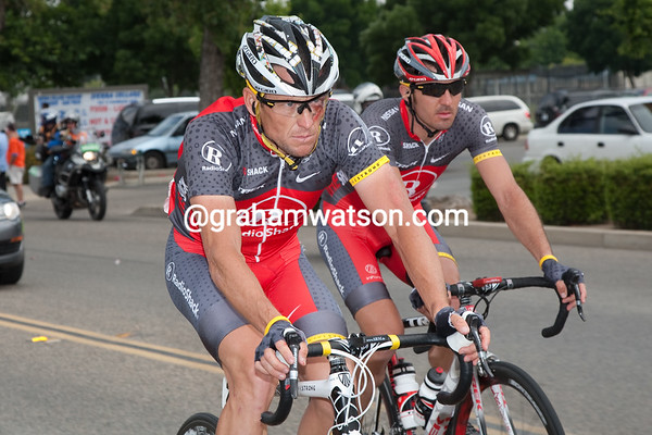 It is Lance who's waiting his turn... his face and position on the bike speak volumes.