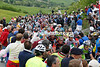 Massive crowds cheer the peloton on the climb made famous by Marco Pantani - they see a peloton seven minutes down on the escape...