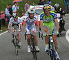 Basso, Scarponi, Evans and Nibali are leaders on the Monte Grappa - Nibali will attack and make a fearsome descent...