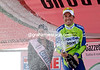 Ivan Basso celebrates his stage-win and the possibility that he can win this Giro d'Italia...