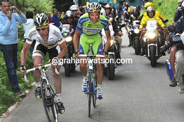 Scarpini has gone backwards after an acceleration by Evans and Basso...