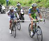 Basso looks to be struggling on the nasty final ascent - is he in trouble..?