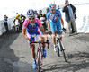 Simoni and Tschopp have gone away from the escape with a few kilometres left - Tschopp will attack and take the Cima Coppi award...