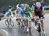 Six kilometres to the summit, the escape has just Sastre, Lloyd, Tschopp, Simoni, Pinotti and Vinokourov in it...