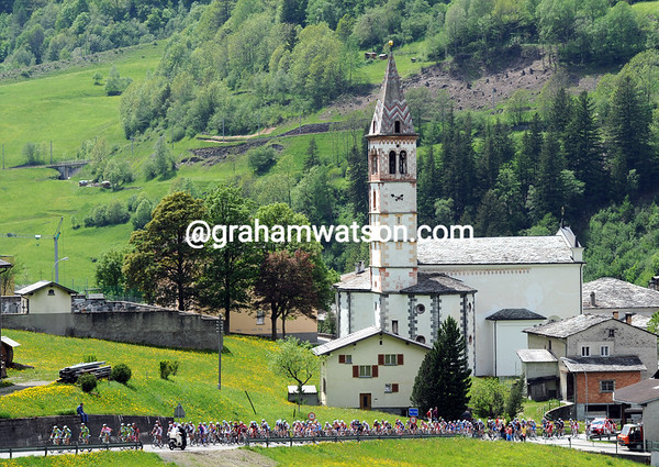 The best scenery of the Giro so far - and it comes in Switzerland...
