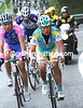 Vinokourov is still chasing - he has Righi and Karpets with him but they're not much help...