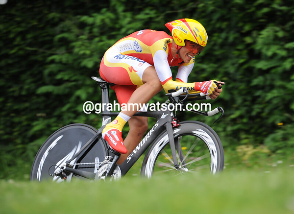 Alberto Contador looked the fastest and he was the fastest - winning at over 47-kilometres-per-hour..!