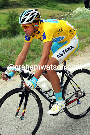 Quieter days than this won't come too often for Alberto Contador...