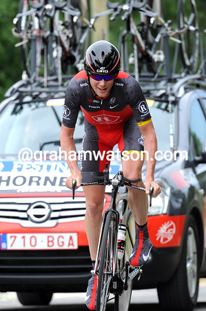 """Chris Horner took 36th place at 3' 41"""" and ruined his overall plans in the Dauphiné..."""