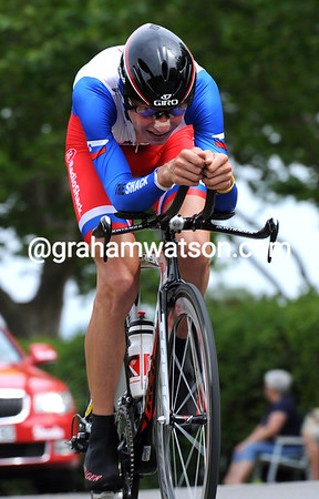 Janez Brajkovic rode the time trial of his life to win stage three at an average speed of 47-kilometres-per-hour...