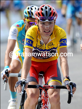 Jani Brajkovic finishes 2nd ahead of Contador and proves to be a valid race-leader for another day...