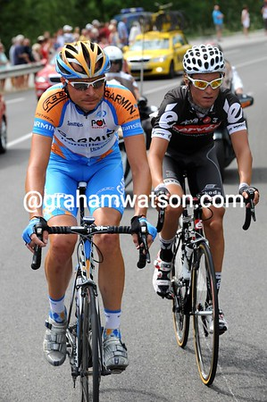 Danny Pate and Stefan Denifl have been allowed to go away into the strong headwind...