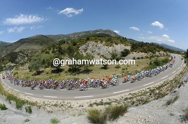 The Dauphine is somewhere between Provence and the Alps in the middle of a very long day...