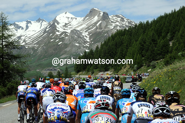 The Col du Galibier is on the horizon, but it won't be climbed in this year's race...