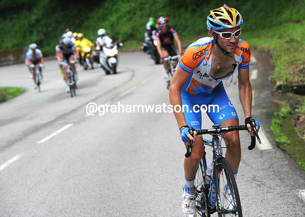 Fredik Kessiakoff has attacked from the peloton and gone after the seven leaders...
