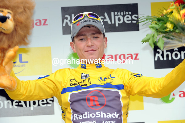 The shyness of jani Brajkovic may be a thing of the past if he wins this Dauphine-Libere..!