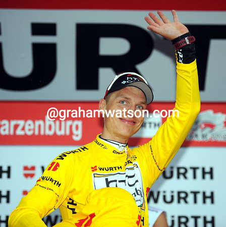 Hi, my name's Tony Martin, and I am the new race-leader of the Tour de Suisse..!