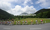 Saxo Bank turns the peloton towards the second half of the Col des Mosses...