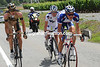 Three men are five minutes ahead - Alexandre Pliuschkin, Emano Capelli, and Jussi Veikkanen...