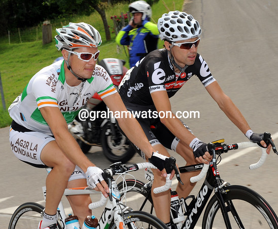 Time to chat - Nicholas Roche with Phillip Deignan...