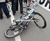 Mondory's bike is still tangled with Haussler's...