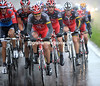 Radio Shack has suddenly begun to chase hard - - Popovych, Kloden, Armstrong and Leipheimer make a potent force at the front...