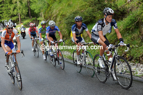 An attack has taken men like Fuglsang, Gesink, Kreuziger and Andy Schleck away from the peloton...