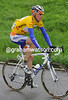 Robert Gesink shows off his brand new yellow jersey now...