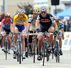 Thor Hushovd finishes ahead of the overall favourites on such a hilly stage - his preparation for the Tour de France has also gone well...
