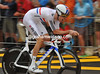 Another race favourite , Bradley Wiggins. tip-toed around the wet course to take 77th at 56-seconds...