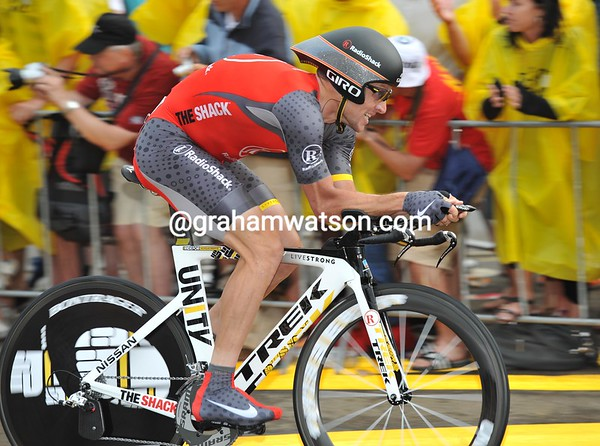 Lance Armstrong showed fantastic form by taking 4th place at 22-seconds - he was the fastest of the G.C contenders..!
