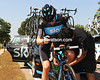 Bradley Wiggins has a few issues with his bike - a Sky mechanic obliges...