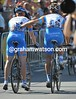 Tyler Farrar crosses the line with the help of Maaskant - his 4th of July dreams over...