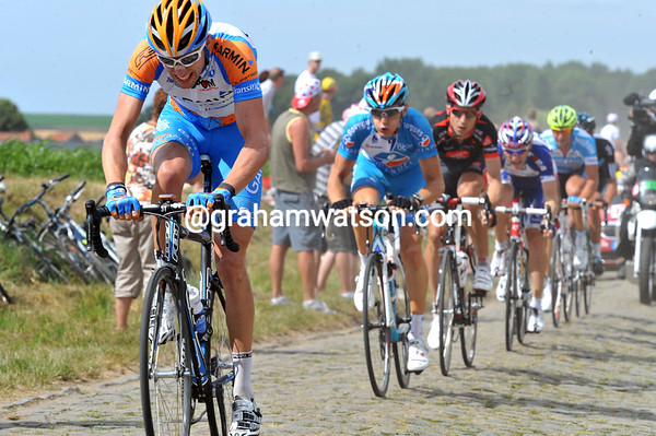 Hesjedal is looking super-strong on the second section...