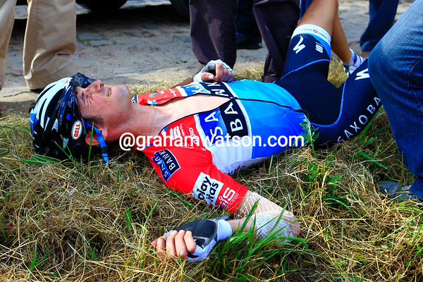 The Luxembourg champion is out of the Tour de France...