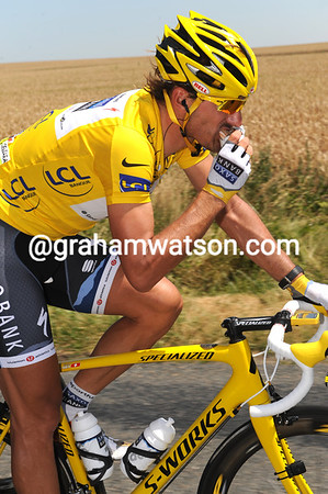 Even in these scorching temperatures, nothing is likely to make Fabian Cancellara sweat...