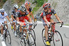 Horner and Brajkovic are discussing Armstrong's situation - to chase or not; they opt for a uniform ride to the finish in Avoriaz...