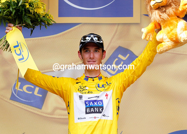 Andy Schleck becomes the new race-leader - and this leader might last for more than just a day..!