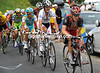Levi Leipheimer is near the front, and ahead of Contador and Andy Schleck...