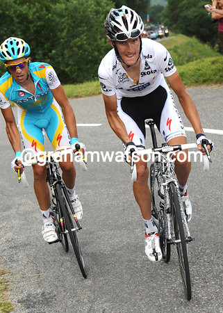 Schleck has attacked and now has just Contador with him...