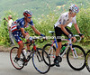 The Col de la Madeleine sees USA and British champions - George Hincapie & Geraint Thomas - slip out of the peloton backwards...