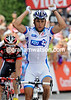 Sandy Casar wins stage nine ahead of Sanchez - but they were almost caught by a group containing Contador and Schleck...